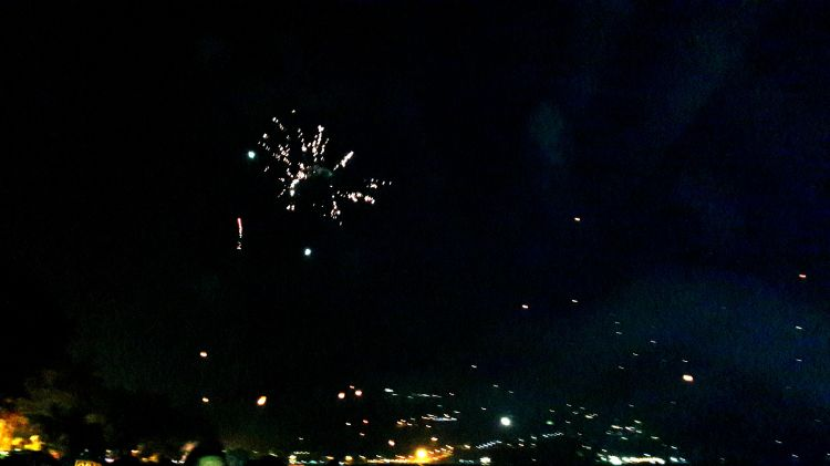 fireworks on the beach was magical!